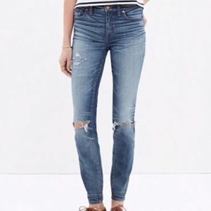 Madewell High Riser Torn Knee Edition Size 29